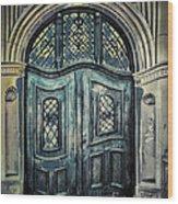 Schoolhouse Entrance Wood Print by Jutta Maria Pusl