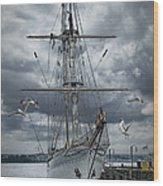 Schooner In Halifax Harbor Wood Print