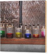 Science - Chemist - Glassware For Couples Wood Print