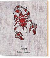 Scorpio Artwork Wood Print