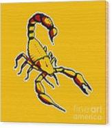 Scorpion Graphic  Wood Print