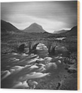 Scotland Sligachan River Wood Print by Nina Papiorek