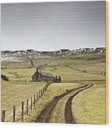 Scottish Borders, Scotland Tire Tracks Wood Print by John Short