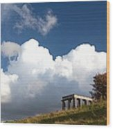 Scottish National Monument On Calton Hill Wood Print by Steven Gray