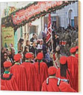 Scouts Parade In Bethlehem At Star Street Wood Print