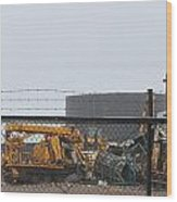 Scrapyard Machinery Wood Print