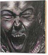Scream Wood Print