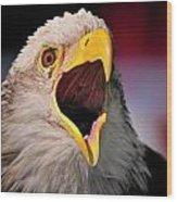 Screaming Eagle I Wood Print