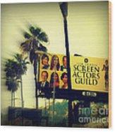 Screen Actors Guild In La Wood Print