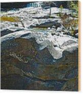 Screw Auger Falls Top 2 Wood Print