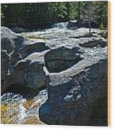 Screw Auger Falls Top 3 Wood Print