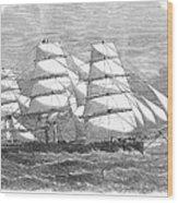 Screw Steamship, 1864 Wood Print