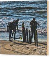 Scuba Divers Wood Print