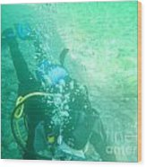 Scuba Diving Wood Print