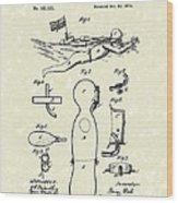 Scuba Suit 1876 Patent Art Wood Print by Prior Art Design