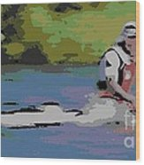 Sculling For The Win Wood Print