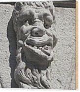 Sculpture Of A Deformed Human Head Wood Print