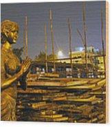 Sculpture Of A Woman Wood Print