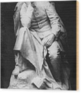 Sculpture Of Kaiser William II, Title Wood Print