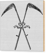 Scythes, 19th Century Wood Print