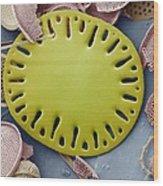 Sea Cucumber Plate Wood Print