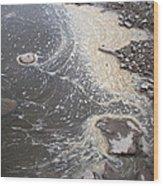 Sea Foam And Algae Wood Print