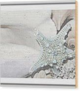 Sea Foam In Pastels Wood Print