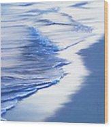 Sea Foam Wood Print by Suni Roveto