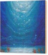 Sea Galaxy Wood Print