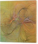 Sea Grass Sunset Wood Print by Betsy Knapp
