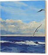 Sea Gulls Wood Print