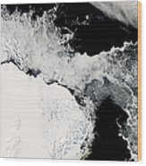 Sea Ice In The Southern Ocean Wood Print