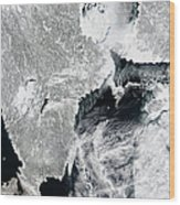 Sea Ice Lines The Coasts Of Sweden Wood Print