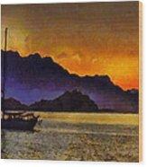 Sea Of Cortez Sunset In Baja Wood Print