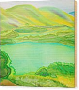 Sea Of Grass Waves Of Mustard Wood Print by Jill Targer