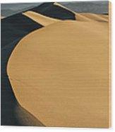 Sea Of Sand Wood Print