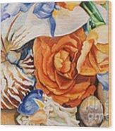 Sea Petals Wood Print