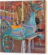 Sea Serpent Carousel Ride Wood Print