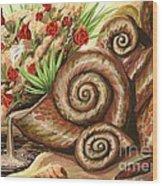 Sea Shells Of Life Wood Print