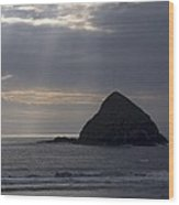Sea Stack On The Oregon Coast Wood Print