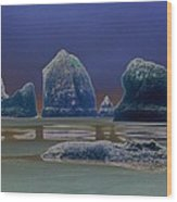 Sea Stacks On The Oregon Coast Wood Print