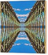Sea Trestle Wood Print