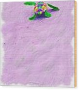 Sea Turtle Escape Card Wood Print