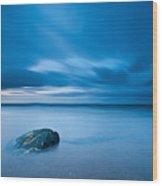 Sea With Blue Sky Wood Print