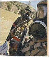 Seabees Conduct Decontamination Wash Wood Print