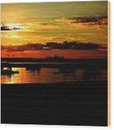 Seabrook At Sunset 1b Wood Print