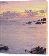 Seafield Sunset Wood Print