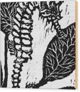 Seahorse Block Print Wood Print