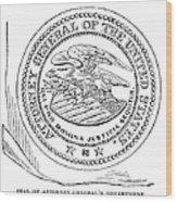 Seal: Attorney General Wood Print