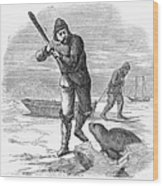 Seal Hunting, 1867 Wood Print